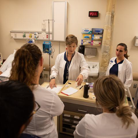 Ashtabula campus nursing students listen to instructor