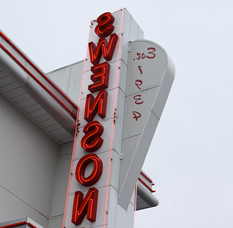 Swenson's Restaurant sign